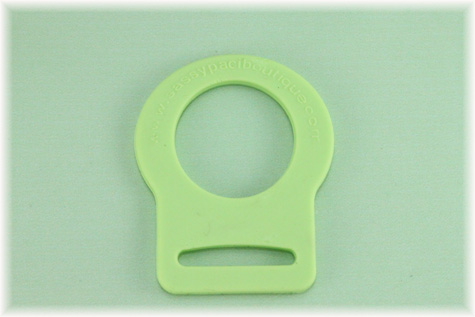 Apple Green Button Pacifier Adapter/Ring