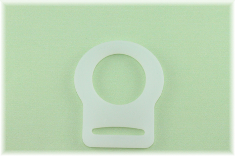 Clear Button Pacifier Adapter/Ring