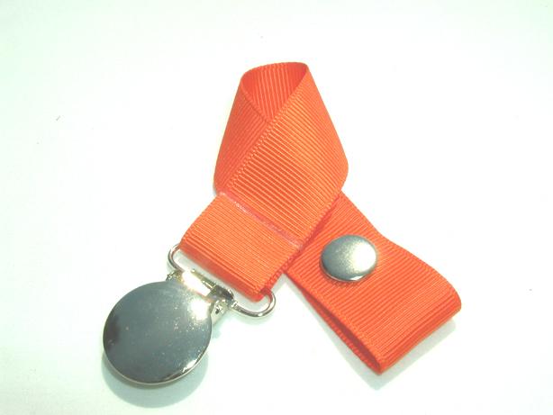 Mandarin Orange Pacifier Holder-Mandarin Orange Pacifier Holder