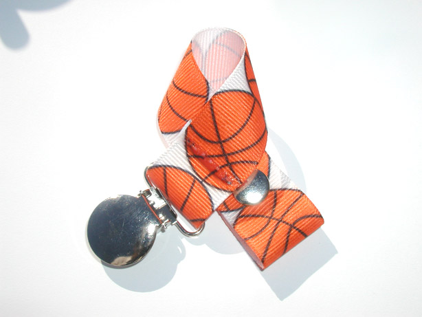 Basketball Pacifier Holder-Basketball  Pacifier Holder