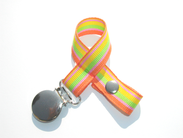 Beach Stripes Pacifier Holder-Beach Stripes Pacifier Holder