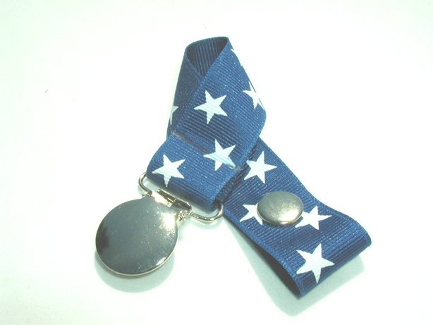 Blue Stars Pacifier Holder-Blue Stars Pacifier Holder