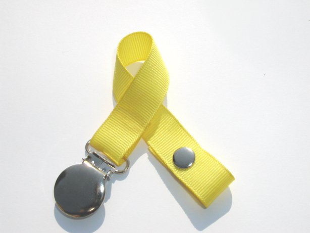 Canary Small Pacifier Holder-Canary Small Pacifier Holder