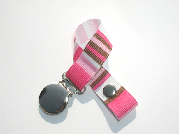 Candy Stripes Pacifier Holder-Candy Stripes Pacifier Holder