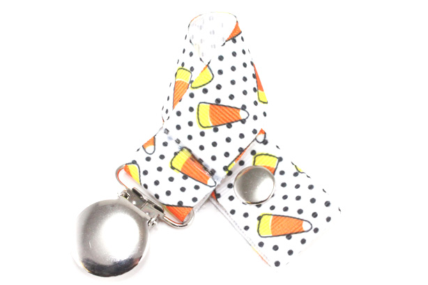Candycorn Pacifier Holder-Candycorn  Pacifier Holder