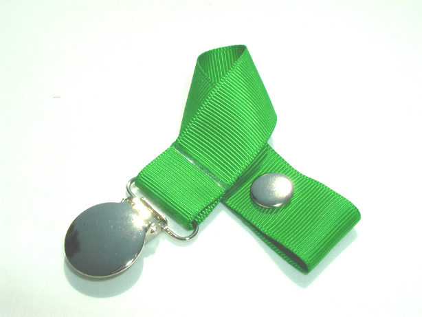 Classical Green Pacifier Holder-Classical Green Pacifier Holder
