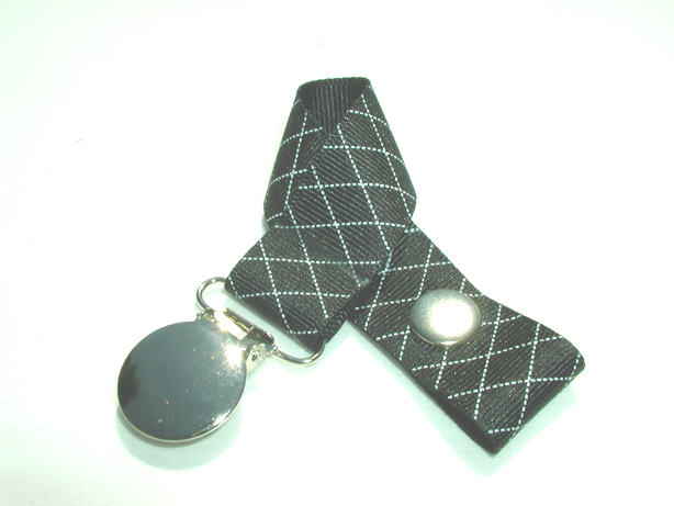 Black Diamonds Pacifier Holder-Black Diamonds Pacifier Holder
