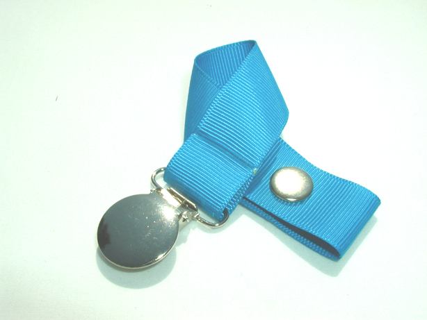 Dress Blue Pacifier Holder-Dress Blue Pacifier Holder