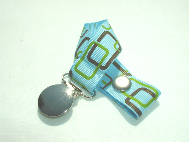 Geometric Blue Pacifier Holder-Geometric Blue Pacifier Holder
