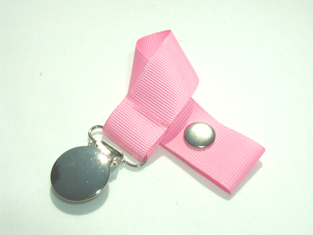 Geranium Pink Pacifier Holder-Geranium Pink Pacifier Holder