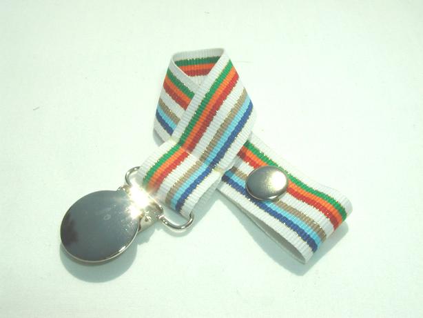 Glitzy Stripes Pacifier Holder-Glitzy Stripes Pacifier Holder