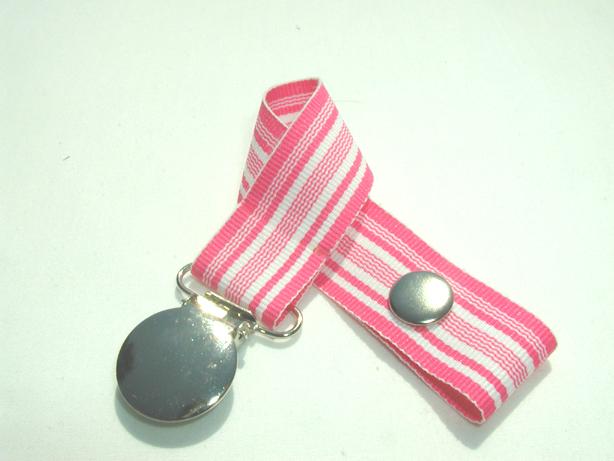 Hot Pink Wave Pacifier Holder-Hot Pink Wave Pacifier Holder