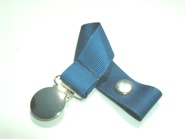 Lt. Navy Pacifier Holder-Lt. Navy Pacifier Holder