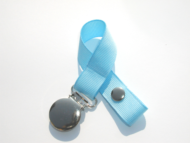 Lt. Blue Small Pacifier Holder-Lt. Blue Small Pacifier Holder