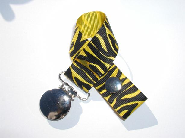 Zebra Maize Pacifier Holder-Zebra Maize Pacifier Holder