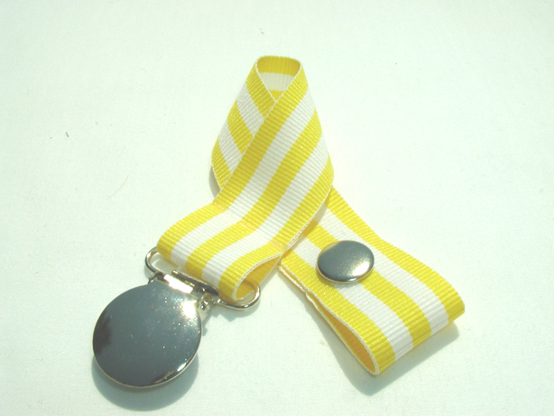 Monarch Yellow Pacifier Holder-Monarch Yellow Pacifier Holder