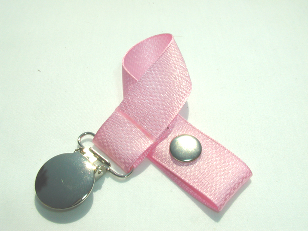 Pattern Pink Pacifier Holder-Pattern Pink Pacifier Holder