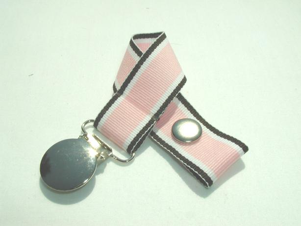 Pink Brown Hot Traxx Pacifier Holder-Pink Brown Hot Traxx Pacifier Holder