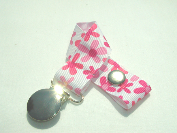 Pink Flowers Multi Pacifier Holder-Pink Flowers Multi Pacifier Holder