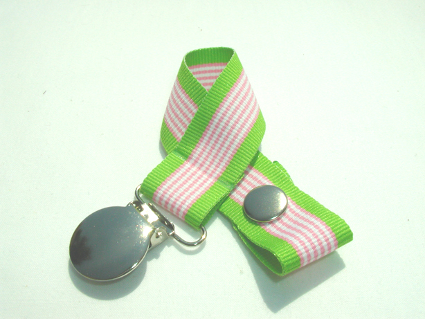 Pink Hawaiin Twist Pacifier Holder