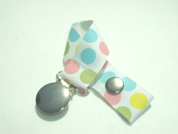 Playful Dots Pacifier Holder-Playful Dots Pacifier Holder
