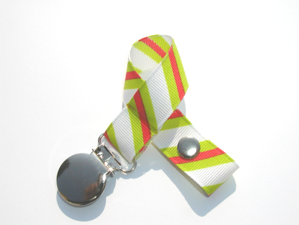 Retro Diagonal Stripes Pacifier Holder-Retro Diagonal Stripes Pacifier Holder