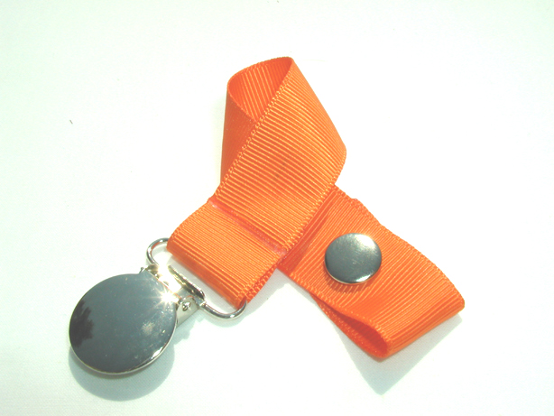 Russet Orange Pacifier Holder-Russet Orange Pacifier Holder
