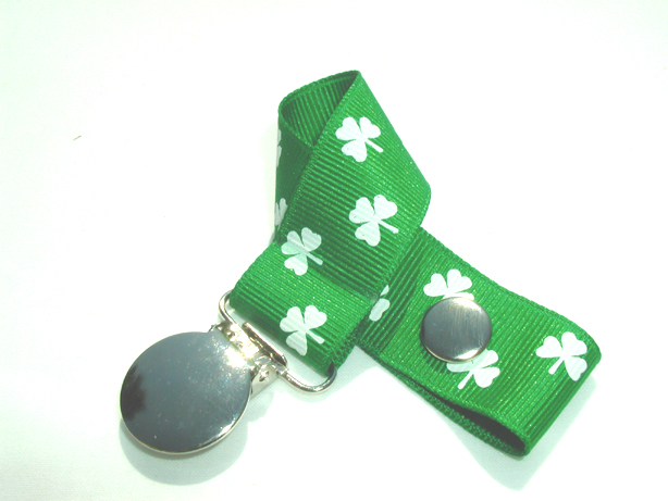 Shamrock Pacifier Holder-Shamrock Pacifier Holder