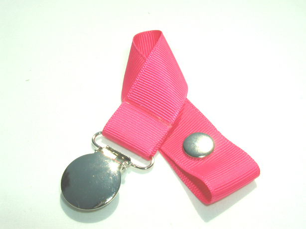 Shocking Pink Pacifier Holder-Shocking Pink Pacifier Holder