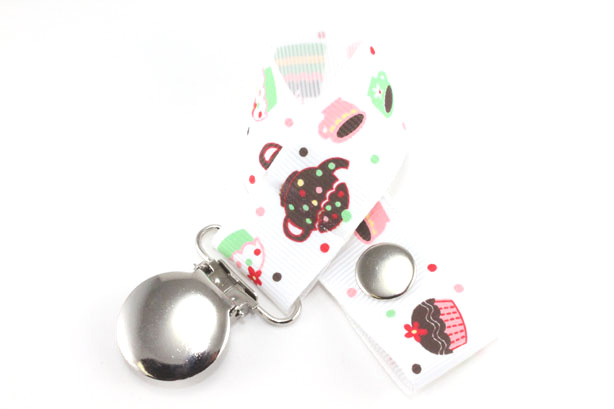 Tea party Pacifier Holder-Tea party Pacifier Holder