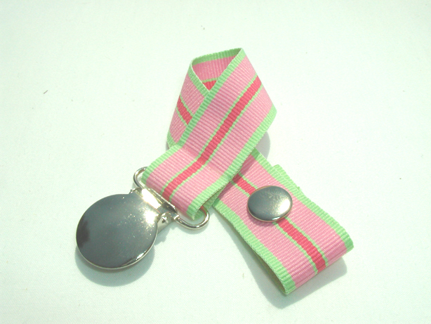 Watermelon Stripes Pacifier Holder-Watermelon Stripes Pacifier Holder