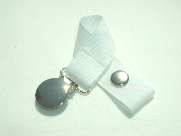 White Pacifier Holder-White Pacifier Holder