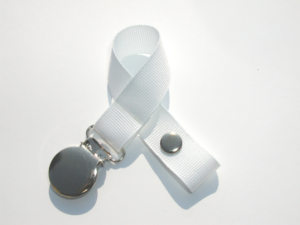 White Small Pacifier Holder-White Small Pacifier Holder