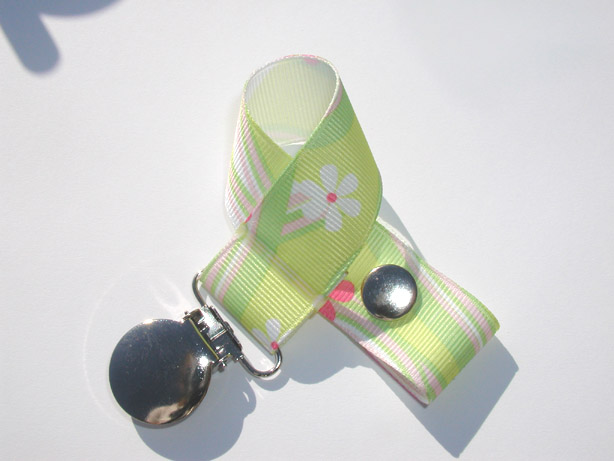 Yellow Flower Waves Pacifier Holder-Yellow Flower Waves Pacifier Holder