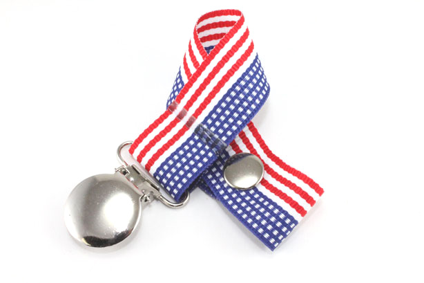 American Flag Pacifier Holder-American Flag  Pacifier Holder