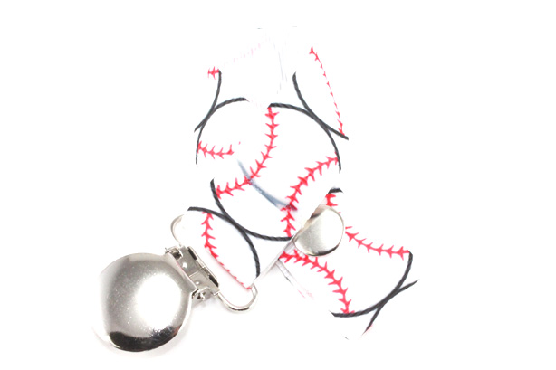 Baseball Pacifier Holder-Baseball Pacifier Holder