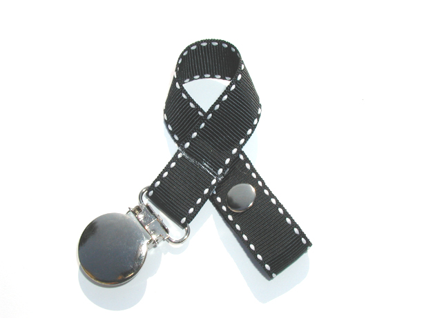Black Stitches Pacifier Holder-Black Stitches Pacifier Holder