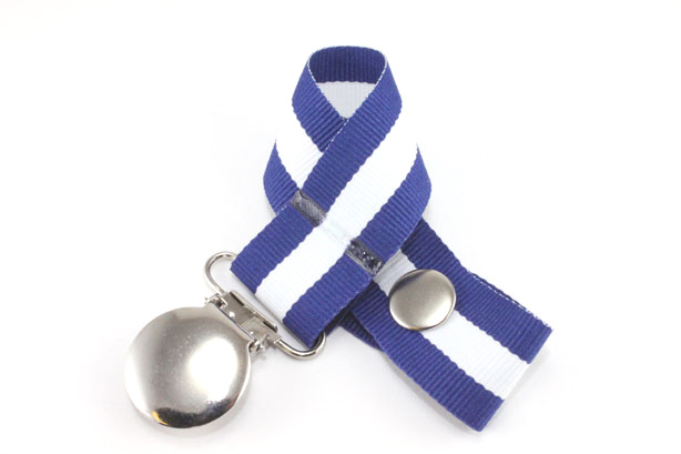 Charger Stripe Pacifier Holder-Charger Stripe Pacifier Holder
