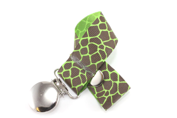 Giraffe Apple Green Pacifier Holder-Giraffe Apple Green Pacifier Holder
