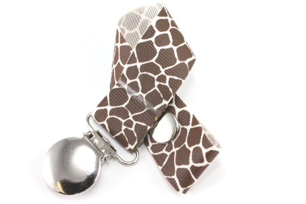 Giraffe Cream Pacifier Holder-Giraffe Cream Pacifier Holder