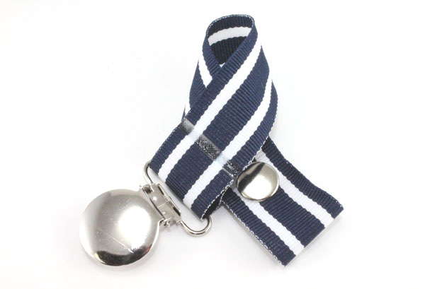 Hampton Stripes Pacifier Holder-Hampton Stripes Pacifier Holder