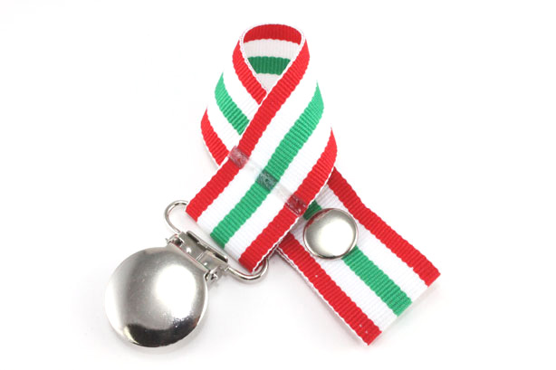 Holiday Stripes Pacifier Holder-Holiday Stripes Pacifier Holder