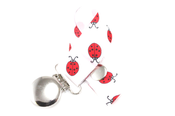 Red Ladybug Pacifier Holder-Red Ladybug Pacifier Holder