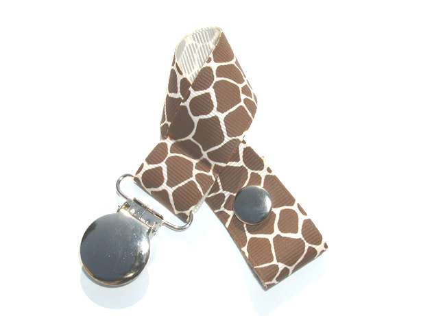 Giraffe Cream Background Pacifier Holder-Giraffe Cream Background Pacifier Holder