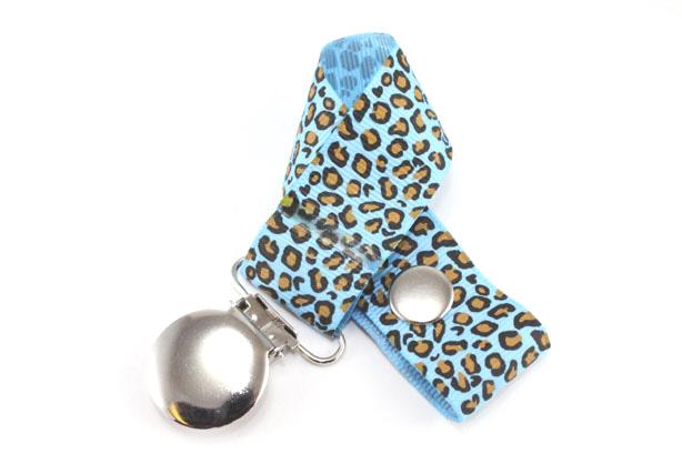 Leopard Blue Mist Pacifier Holder-Leopard Blue Mist Pacifier Holder