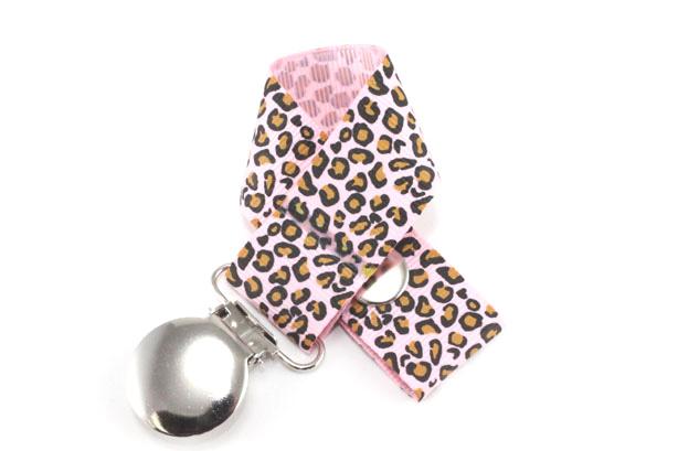 Leopard  Hot Pink  Pacifier Holder-Leopard Hot Pink  Pacifier Holder
