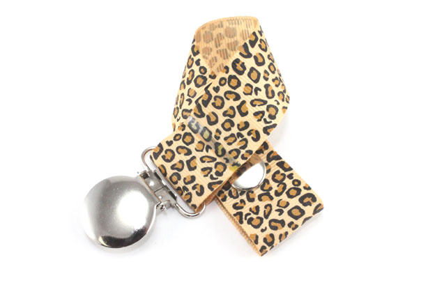 Leopard Tan Pacifier Holder-Leopard Tan Pacifier Holder