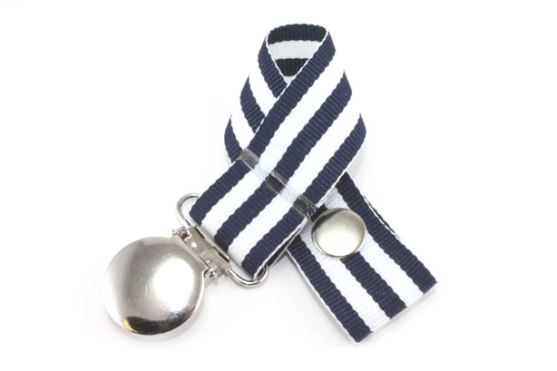 Monarch Navy Pacifier Holder-Monarch Navy Pacifier Holder