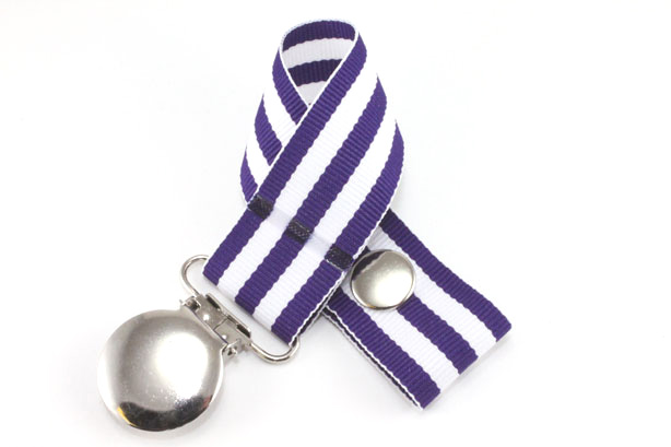 Monarch Purple Pacifier Holder-Monarch Purple Pacifier Holder