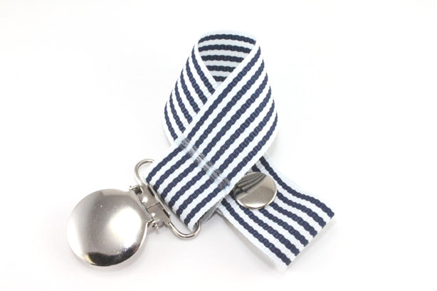 Ocean Stripe Pacifier Holder-Ocean Stripe Pacifier Holder